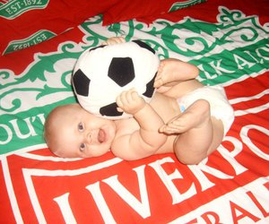 baby, ball, and soccer image