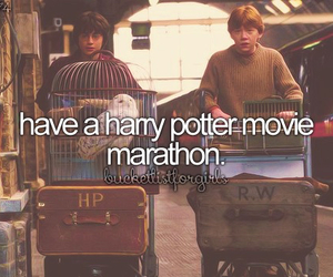 harry potter, Marathon, and bucket list image