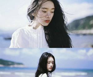 girl, asian, and hair image