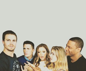 arrow, colton, and katie cassidy image