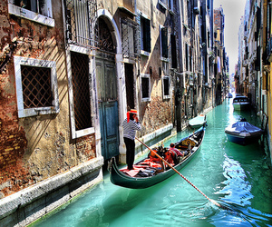 venice, italy, and gondola image