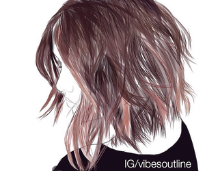 hair, outline, and @acaciabrinley image