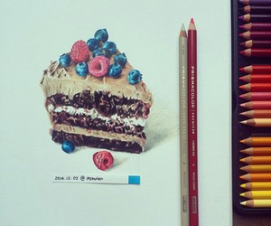 drawing, art, and dessert image