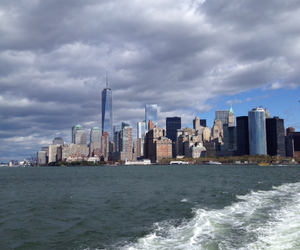 boat, new york, and staten island ferry image