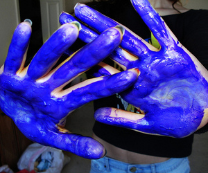 hand, paint, and photography image