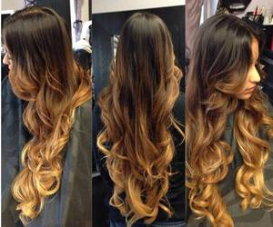 hair, ombre, and long hair image