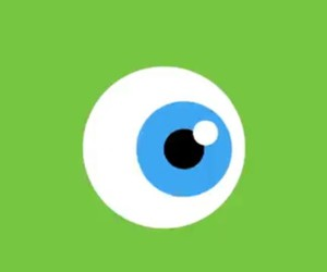 eye, green, and monster image