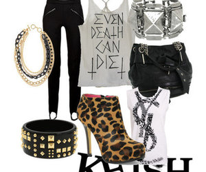chains, leather, and studded image