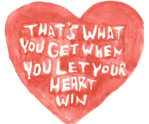 paramore, heart, and that's what you get image