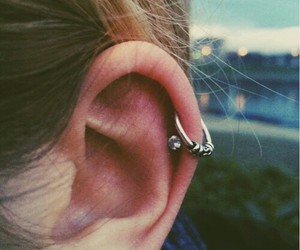 piercing, girls, and helix image