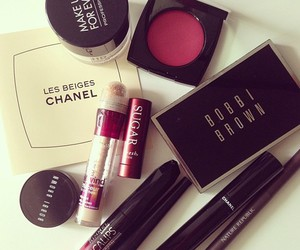 make up, chanel, and cosmetics image