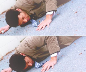 angel, falling, and castiel image