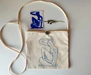 after, bag, and embroidered image