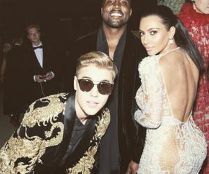 justin bieber, kim kardashian, and kanye west image