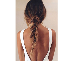 beauty, braided, and fishtail image