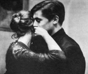 couple, black and white, and vintage image