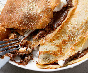 crepes, chocolate, and nutella image