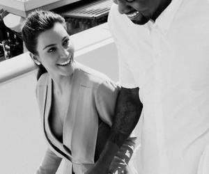 kanye west, kim kardashian, and love image