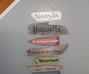 hogwarts, narnia, and neverland image