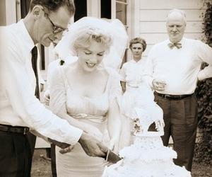 Marilyn Monroe and wedding image