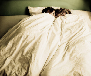 bed, couple, and love image