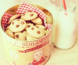 Cookies, food, and milk image