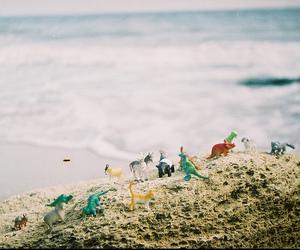 beach, dinosaur, and toys image