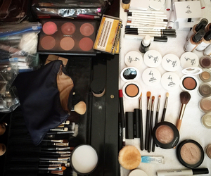 backstage, Brushes, and make up image