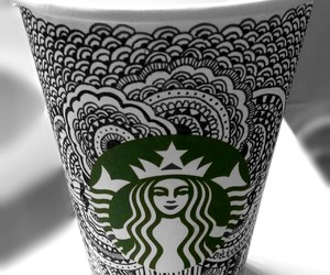 cup and starbucks image