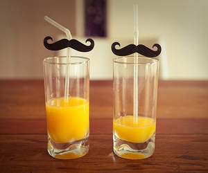 mustache, juice, and drink image