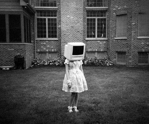 girl, grunge, and tv image