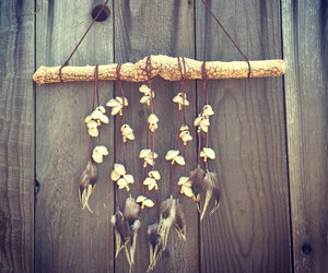 chime, etsy, and feathers image
