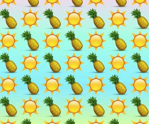 color, pineapple, and suns image