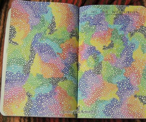circles, journal, and page image