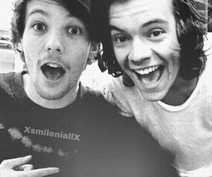 black and white, happy, and 1d image