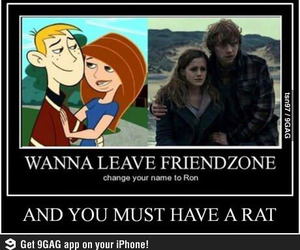 harry potter, ron, and kim possible image