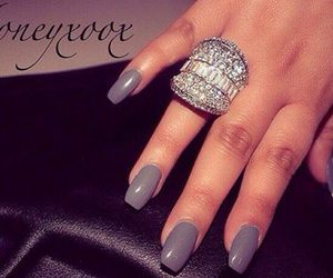 luxury, nails, and diamonds image