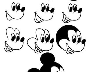 drawing, mickey, and disney image