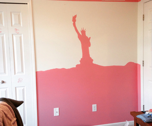 diy, hand painted, and liberty statue image