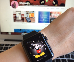 macbook air, we heart it, and mickey mouse image