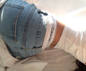 Calvin Klein, jeans, and white image