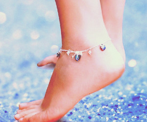anklet and blue image