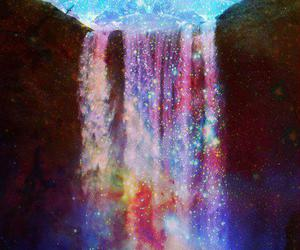 waterfall and galaxy image