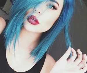 blue, style, and cabello image