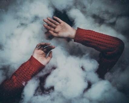 smoke, grunge, and hands image