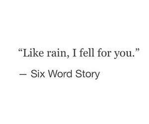 quote, love, and rain image
