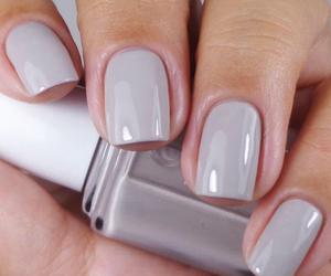 nails, nail polish, and grey image