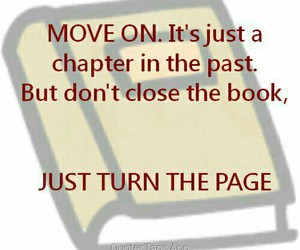 book, chapter, and move on image