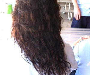brown hair, curls, and life image