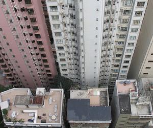 birdseyeview, hong kong, and buildings image